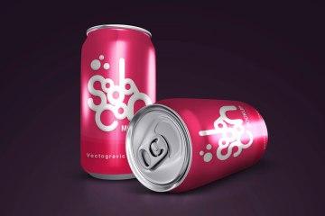 Free Soda Can Mockups