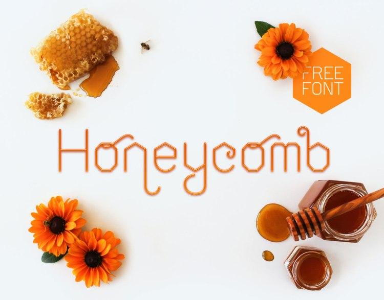 Honeycomb-free-display-font