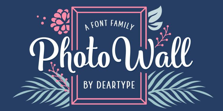 Photowall Font Family Free Demo