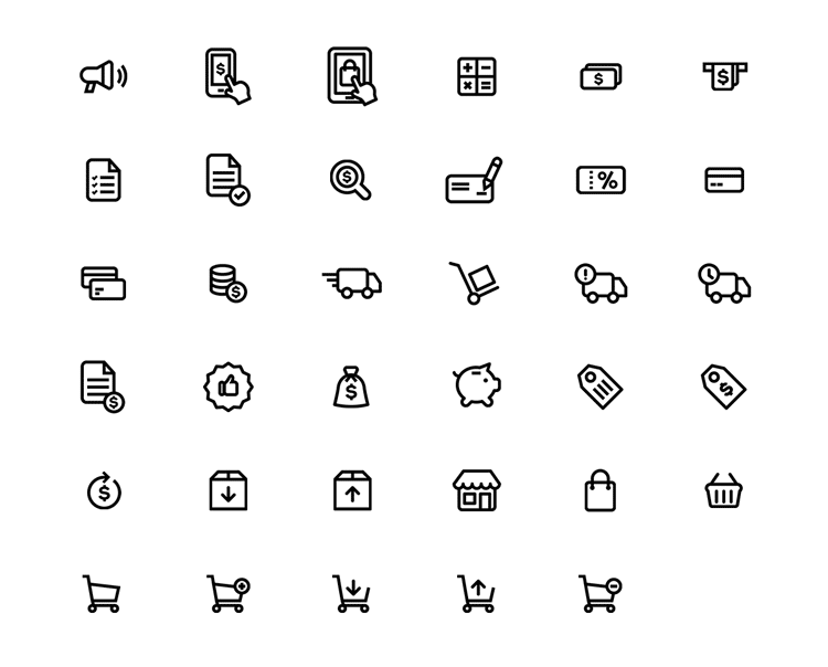E-Commerce icons pack by Chanut-is By Cha