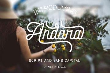 Andara Script Free Font