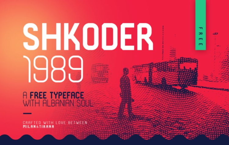 Shkoder 1989 Free Typeface