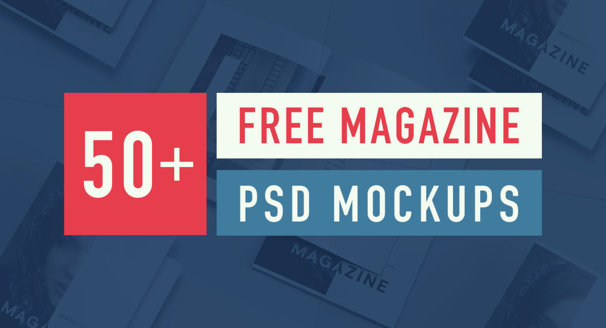 50 Best Free Magazine And Book Cover Psd Mockup Templates 2019