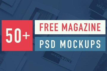 Best Free Magazine and Book Cover PSD Mockup Templates