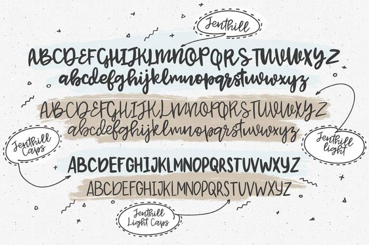 Jenthill Script Free Font