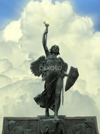 angel in armor statues