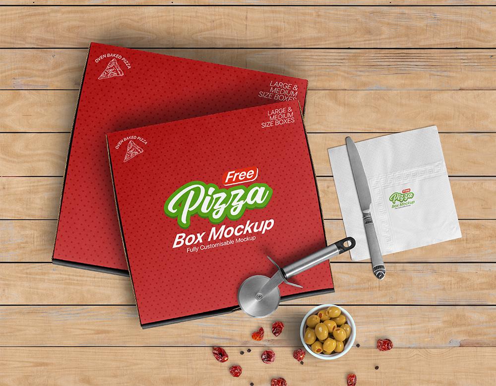 Download Free White Pizza Box Mockup | Pizza Box Template | Free ...