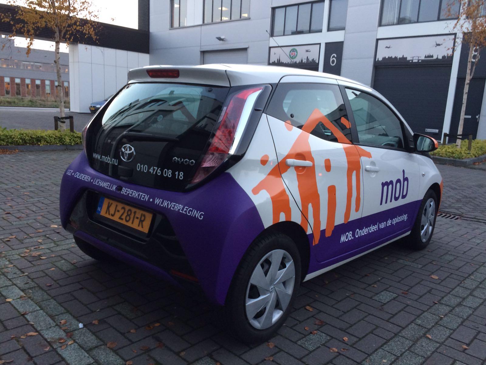 MOB Autobelettering ontwerp