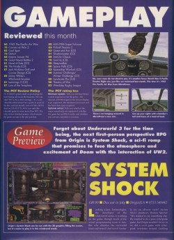 System Shock Preview - PC Format Page 1