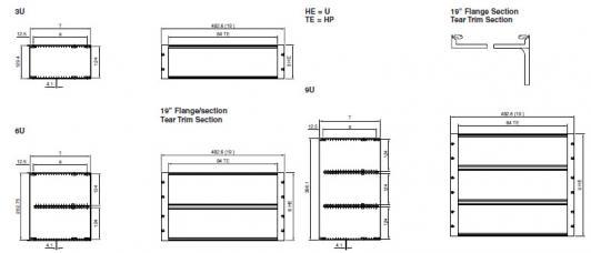 Vario Subracks 3U, 6U, 9U, EMC, enclosure, EMI, RFI, sub