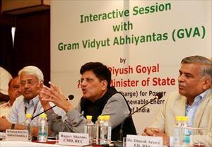Interacting with Gram Vidyut Abhiyantas (GVA) in New Delhi