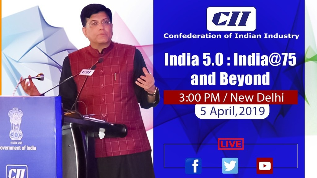 Speaking at CII Annual Session, India 5.0 : India@75 and Beyond', in New Delhi