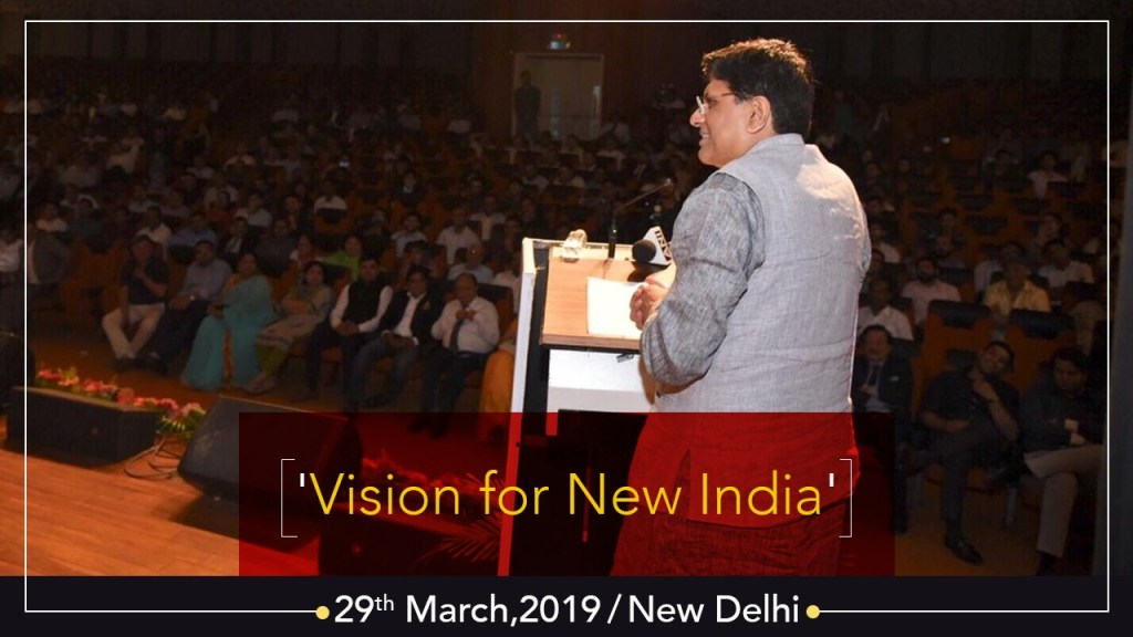 Speaking at Intellectuals Meet: Vision for New India, in New Delhi