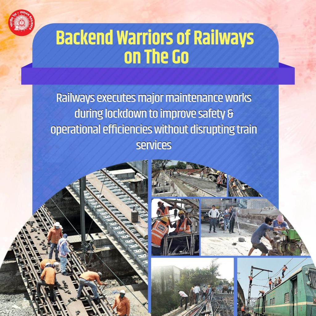 Railways Backend Warriors on the Go: Enhancing safety & operational efficiency, Railways utilises the lockdown period and executes major maintenance works of bridges and tracks