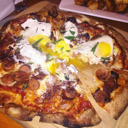 Lower mills tavern Dorchester breakfast pizza