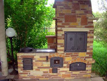 grill pizzaofen kombination | sichtschutz, Gartengestaltung