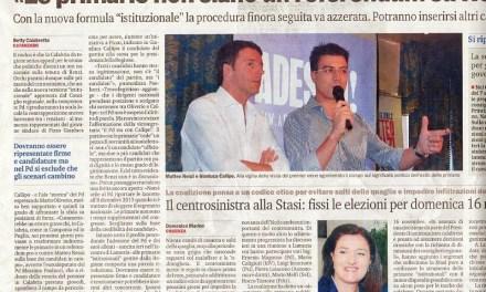 12 Agosto 2014 – Le primarie non siano un referendum su Renzi