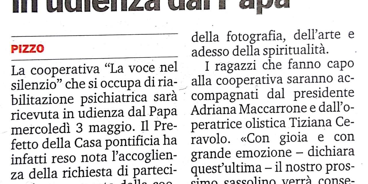 """La """"Voce nel silenzio"""" in udienza dal Papa"""