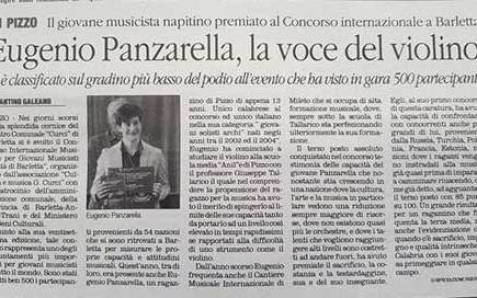 Eugenio Panzarella, la voce del violino