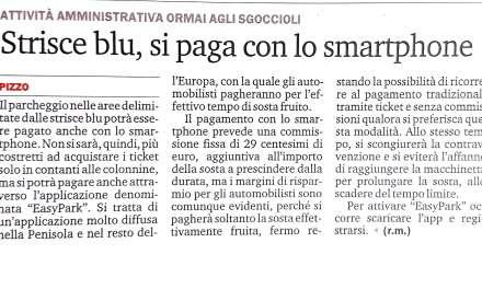 Striscia blu, si paga con lo smartphone