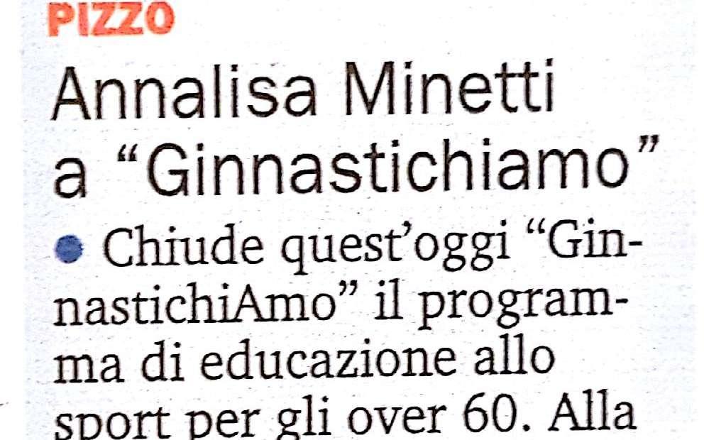 Annalisa Minnetti a Ginnastichiamo