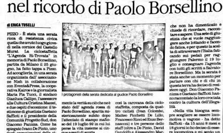 Serata ricca di resistenza civica nel ricordo di Paola Borsellino