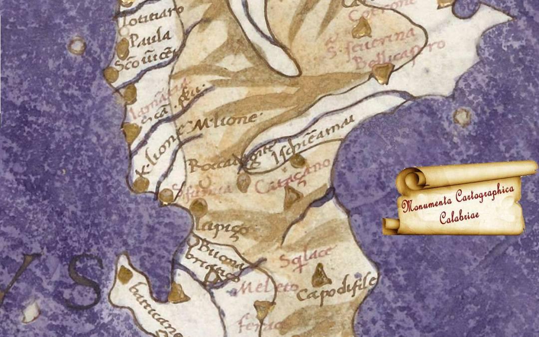 1460 circa di Jacopo Angelo. Una delle più antiche rappresentazioni cartografiche della Calabria terrestre