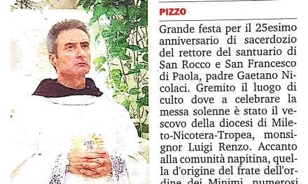 Padre Nicolaci. Da 25 anni al servizio di Chiesa e fedeli.