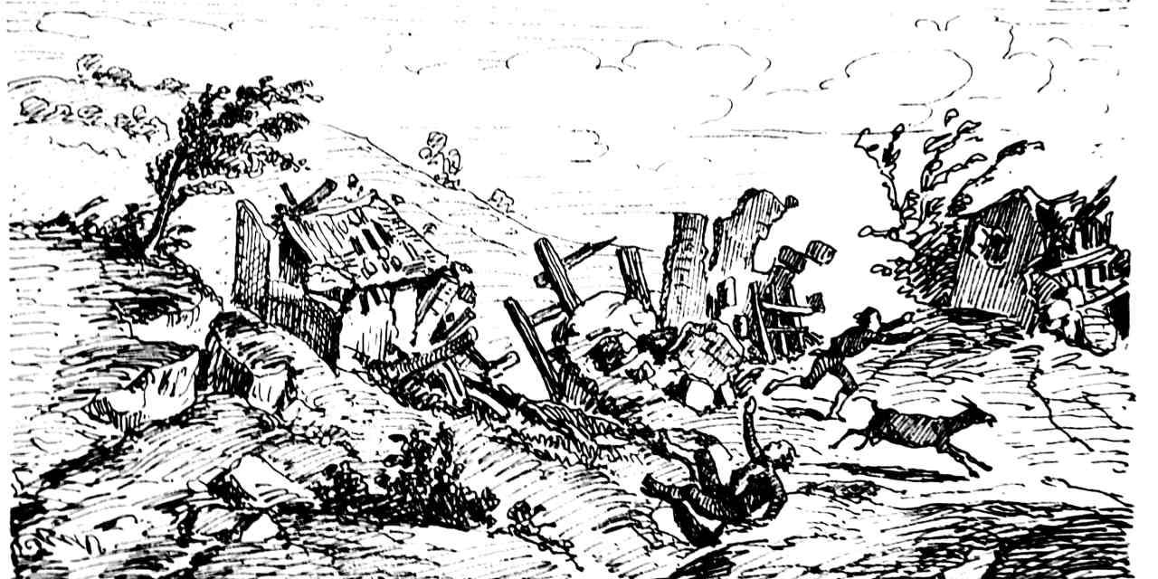 """IL TERREMOTO DEL 1783  da """"Colonna Mobile in Calabria"""" di Horace Rilliet"""