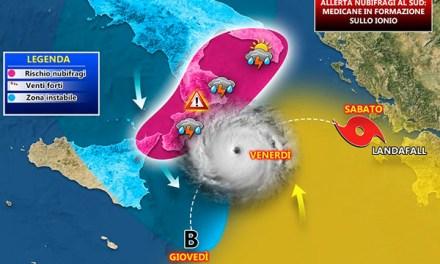 Allerta nubifragi in Calabria – Un raro ciclone in formazione sul mar Ionio | Soverato Web.Com