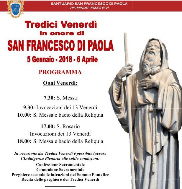 I 13 Venerdì di San Francesco di Paola