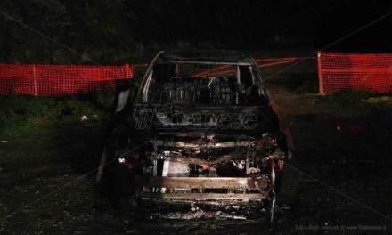 Pizzo, auto abbandonata e data alle fiamme lungo la provinciale