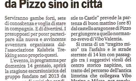 """""""Castel to Castel"""", a piedi da Pizzo sino a Vibo"""