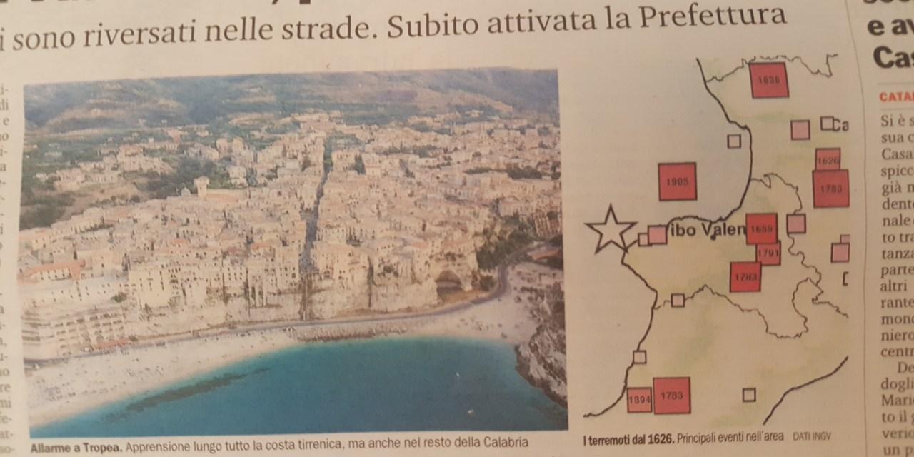 Terremoto nel Vibonese, paura fino in Sicilia