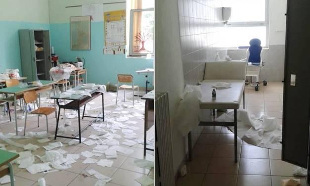 Pizzo, raid vandalico al plesso scolastico San Sebastiano