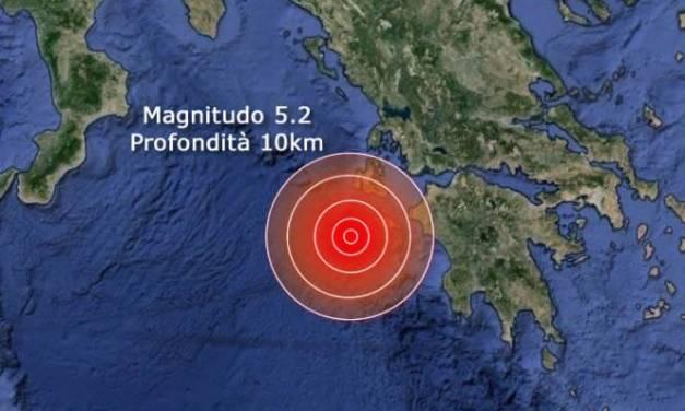 Forte scossa di terremoto di magnitudo 5.2 nello Ionio in Grecia, avvertita a Zante – News – Meteo ANSA.it