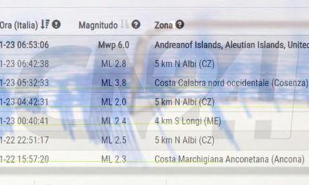 Sciame sismico tra Catanzaro e Cosenza, registrate quattro scosse in poco tempo