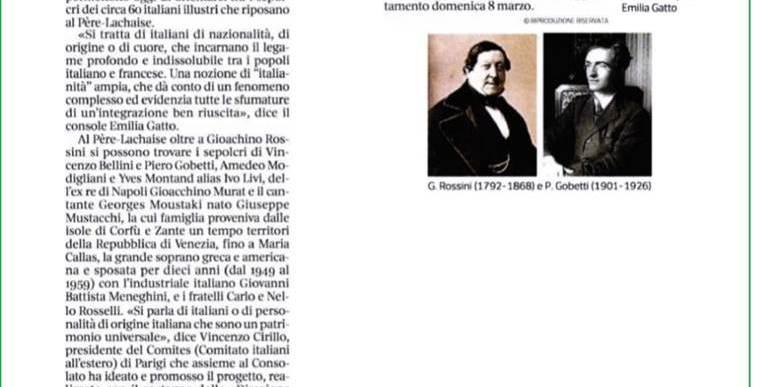 Al Père-Lachaise, seguendo una traccia d'Italia