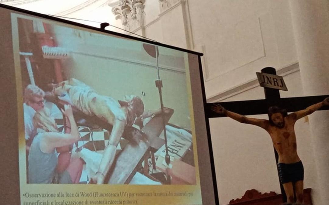 Pizzo, dopo il restauro esposto al culto 'U Patri d'a Rocca