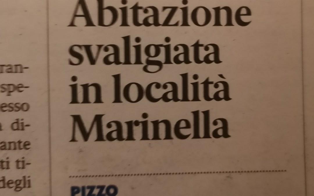 Abitazione svaligiata in localita' Marinella