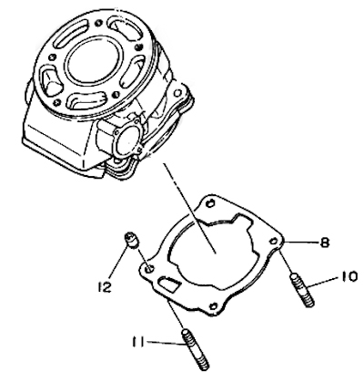 Yamaha DT125R Piston Gasket Small End Bearing