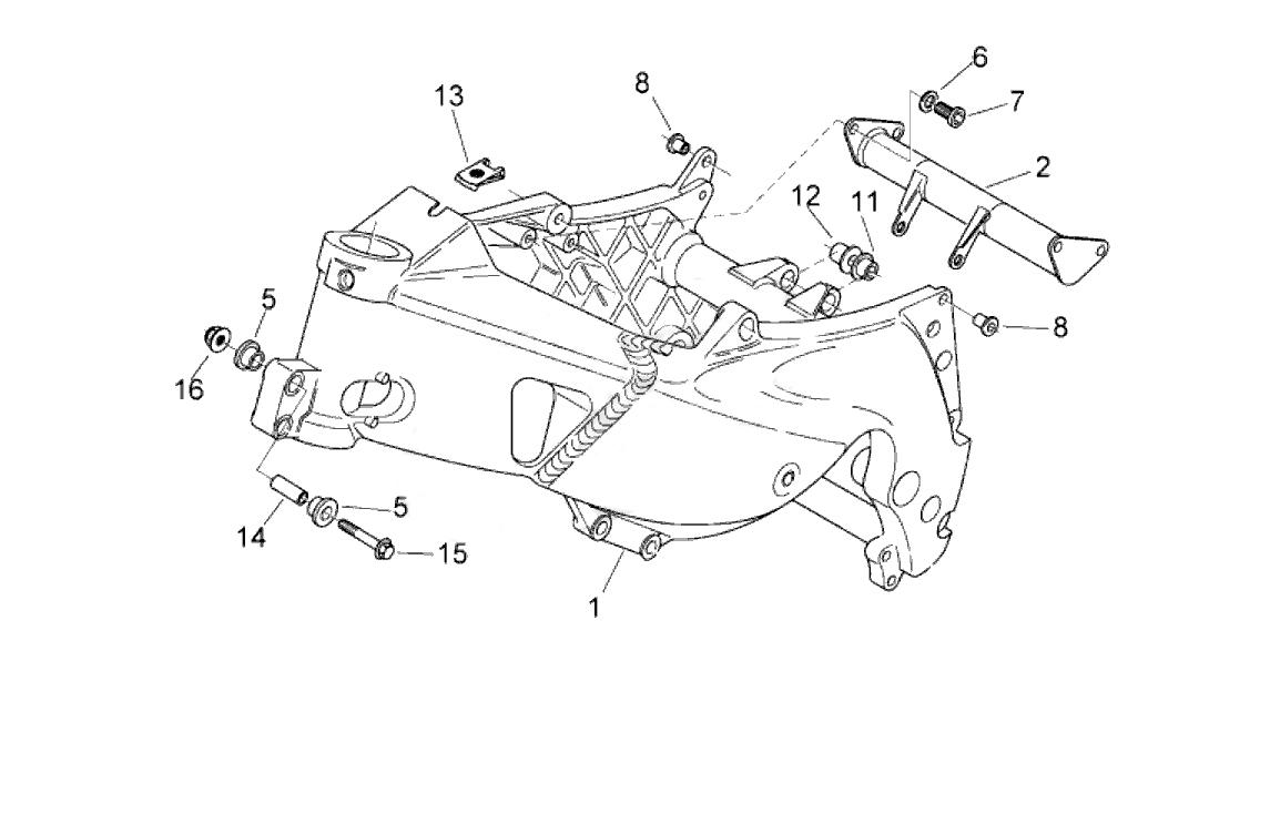 Aprilia RS 125 Wheel bearings, RS125 Foot Peg