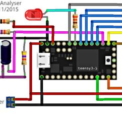 Audio Spectrum Analyzer Circuit Diagram 3 Arrow Circle Led Matrix Frequency Data Is Scaled And Binned Into Logarithmic Response Groupings Plotted Using A Custom Fast Display Driver