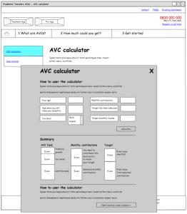 Prudential AVC template - AVC calculator (redesign 1)
