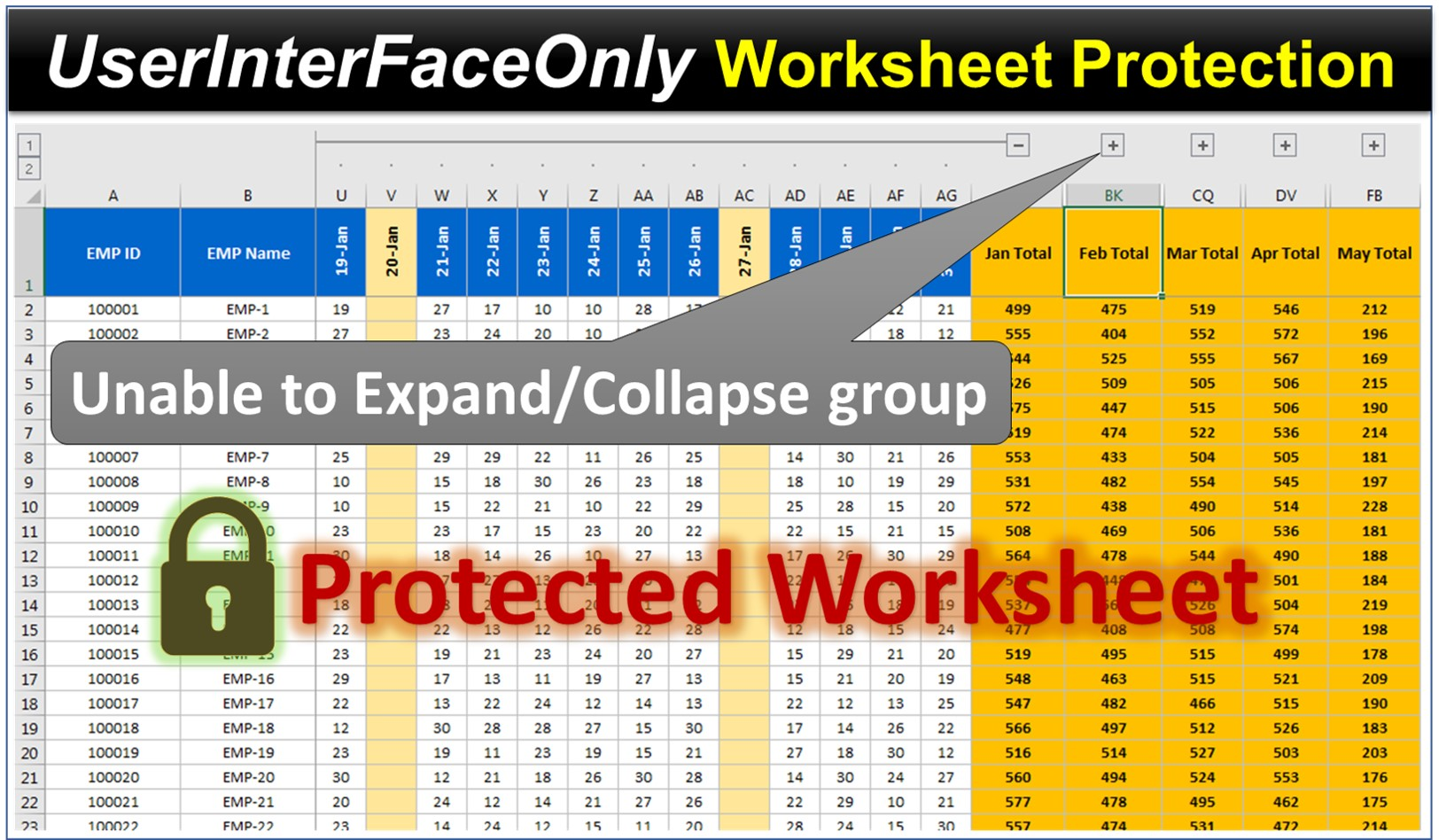 Protect Excel Worksheet As Userinterfaceonly