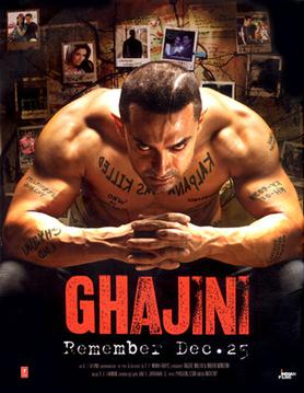 Ghajini indian movie poster