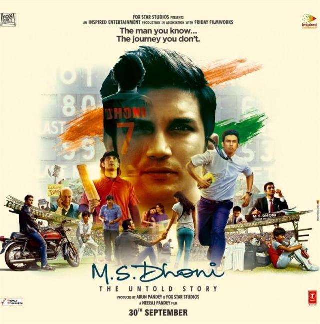 M.S. Dhoni indian Movie Poster