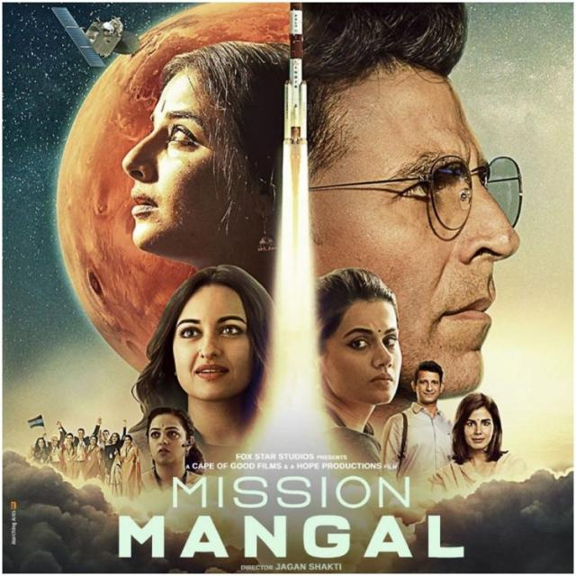 Mission Mangal indian Movie Poster