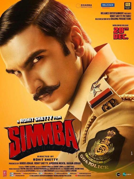 Simmba indian Movie Poster