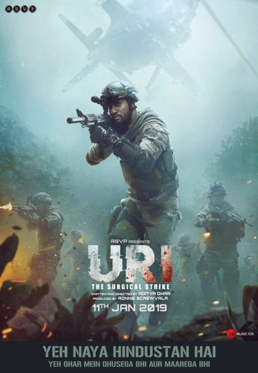 Uri The Surgical Strike indian Movie Poster